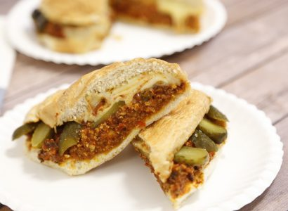 Vegetarian Sloppy Jose Sandwich